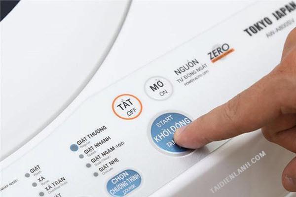 máy giặt không khởi động được